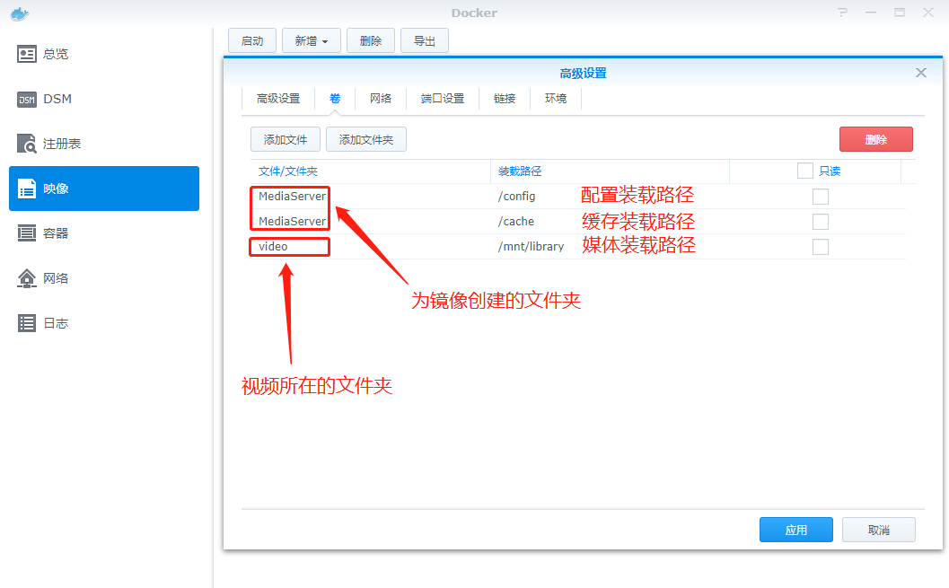 在群晖Docker中安装Jellyfin媒体服务器